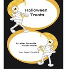 Halloween Treats Letter Scramble Puzzle Packet and Center