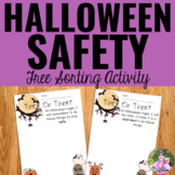 Halloween Trick-Or-Treating Safety Sorting Cards FREEBIE