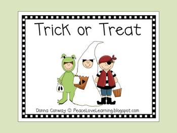 Halloween Trick or Treat Emergent Reader
