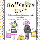 Halloween Unit - Fun Printables, Math, and Writing