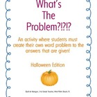 Halloween Word Problem Activity