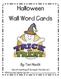 Halloween Word Wall Cards