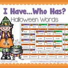 Halloween Words~ I Have, Who Has? Game Cards