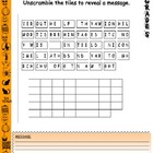 Halloween Worksheet Word Tile Unscramble Gr5