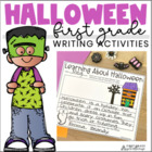 Halloween Writing for Firsties