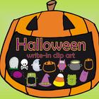 Halloween write in clip art