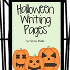 Halloweeny Writing Pages and Prompts