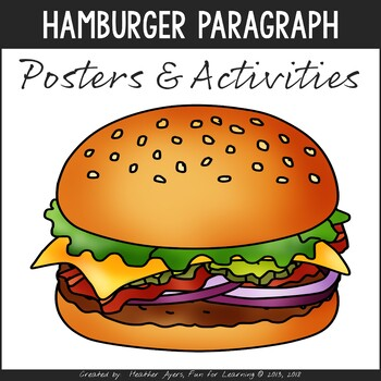 Hamburger Paragraph Resources {Mini-posters, Worksheets, Craftivity}