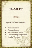 Hamlet Quick Reference Pamphlet Bookmark