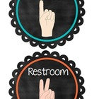 Hand Signal Signs {Chalkboard Theme}