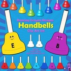 Handbells Clip Art - Colored Bells