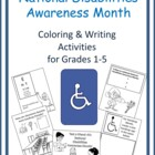 Handicap Month Coloring Activities for Grades Pre-k-2