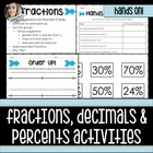 Hands on Number Sense - Fractions, Decimals and Percents