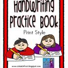 Handwriting Book Print Style