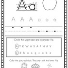 Alphabet Handwriting Sheets, Print Font