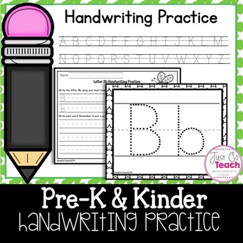 Handwriting and Spacing Practice A to Z