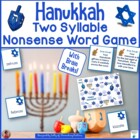 Hanukkah Nonsense Word Game