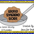 Hanukkah Syllable Game 'Latke Syllable Sort' Great Center