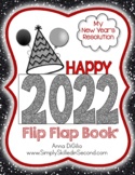 Happy 2014 Flip Flap Book - New Year's Resolution Writing