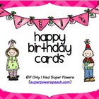 Happy Birthday Cards (FREE)