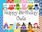 Happy Birthday Owls Bulletin Board