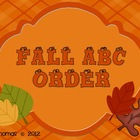 Happy Fall ABC Order!