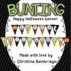 Happy Halloween and Happy Fall Bunting Banner