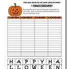 Happy Halloween Word Work Worksheet