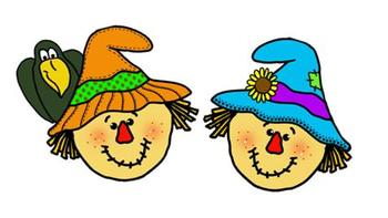 Happy Harvest Fall Clip Art CollectionScarecrow Face Clipart
