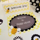 Classroom Decor Happy Honeybee Door Sign