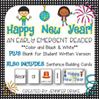 Happy New Year Emergent Reader PLUS Picture & Word Cards;