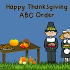 Happy Thanksgiving ABC Order