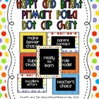 Happy and Bright Primary Polka Dot Clip Chart