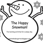 Happy the Snowman: a snowman in the bottle activity