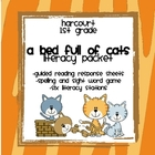 "Harcourt Trophies ""A Bed Full of Cats"" Literacy Packet (1s"