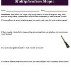 Harry Potter and the Sorcerers Stone Math Magic Activity and Key