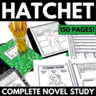 Hatchet by Gary Paulsen: Novel Study with Questions, Proje