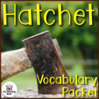 Hatchet Vocabulary Packet with Quiz