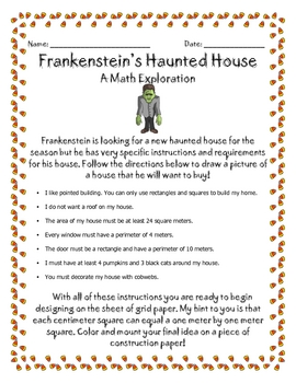 Haunted House Math Measurement