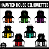 Haunted House Silhouettes Clip Art/Graphics
