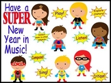Have a SUPER New Year in Music Bulletin Board