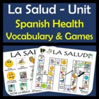 Health Vocabulary Activities & Games Unit in Spanish (La Salud)