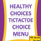 Healthy Choices TicTacToe Choice Board