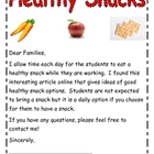 Healthy Snack Letter and Information