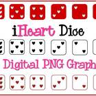 Heart Dice Clipart {Personal & Commercial Use}