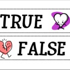 Heart Health True or False Cards