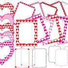 Heart Pattern Frames Borders