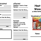 Heat Wave Vocabulary Foldable