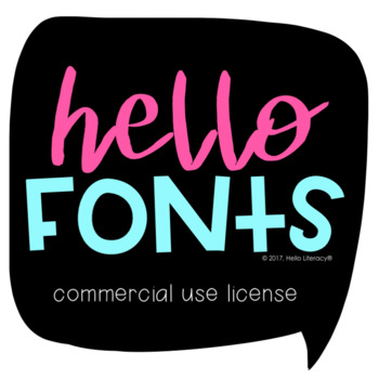 Hello Fonts - License for Commercial Use: Single License-Single Designer