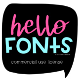 Hello Fonts - License for Commercial Use: Single License-S